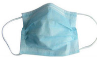 Disposable facemask, nonwoven face mask